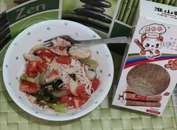 Tomato huai shan noodles