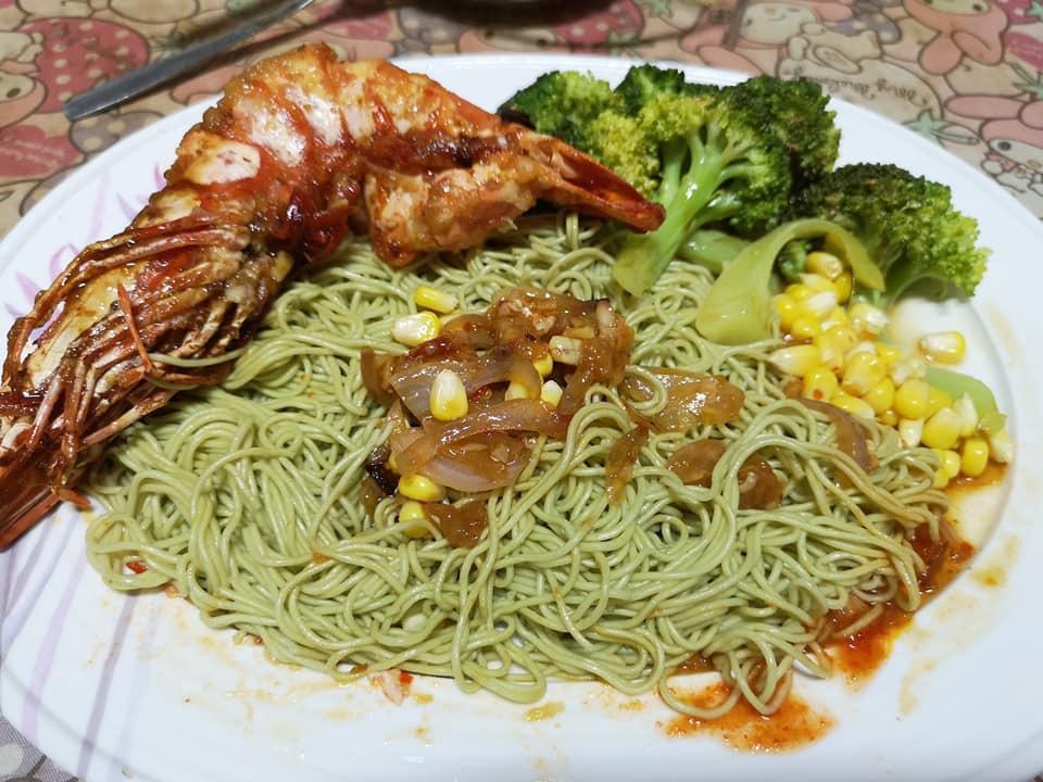 大虾青菜面