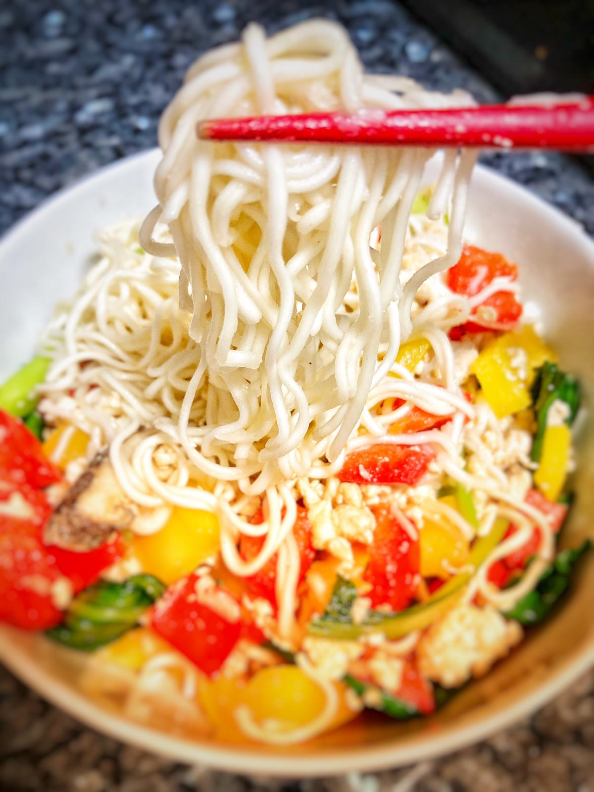 Fried Capsicum with Huai Shan Noodles