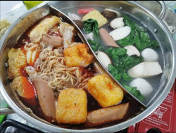 fav huai shan noodle in steamboat