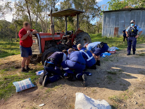 Cattai man in his 80s falls from tractor – Careflight fly him to Westmead with multiple fractures