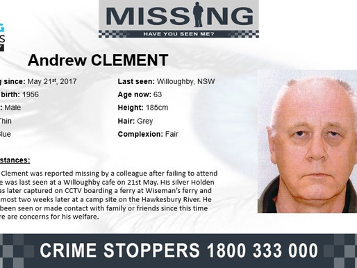 Andrew went missing after boarding the Wiseman's Ferry – have you seen him?