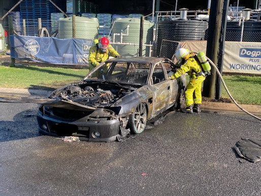 Vehicle fire at Wilberforce