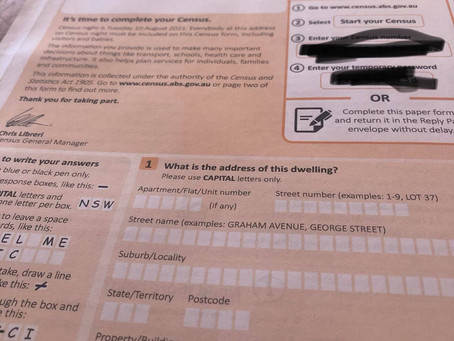 Reminder - CENSUS tonight and potential fines for not doing it...