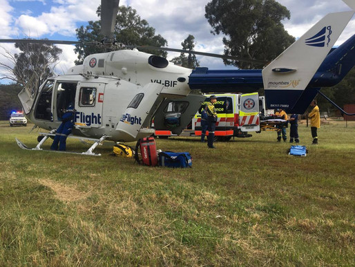 Motorcyclist airlifted to hospital after Putty bike accident