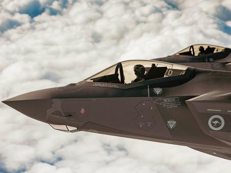 F35 Lightning fighter jets at RAAF Richmond on Monday...