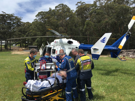Kurrajong Heights emergency one of three back-to-back rescues for CareFlight crew