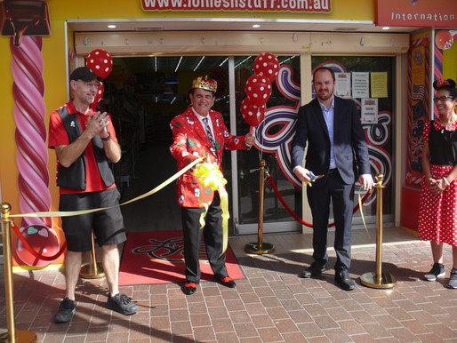 Sweet taste of success – Mayor opens Windsor's bigger, better Lollies 'n' Stuff