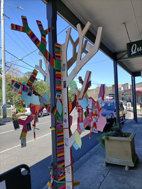 Kurrajong's Positivity Tree blossoms with messages of hope to inspire the community