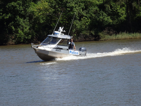 Hawkesbury Police out on the water today