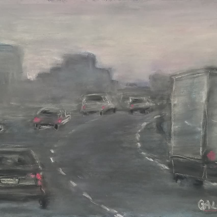 Driving Through Jersey City