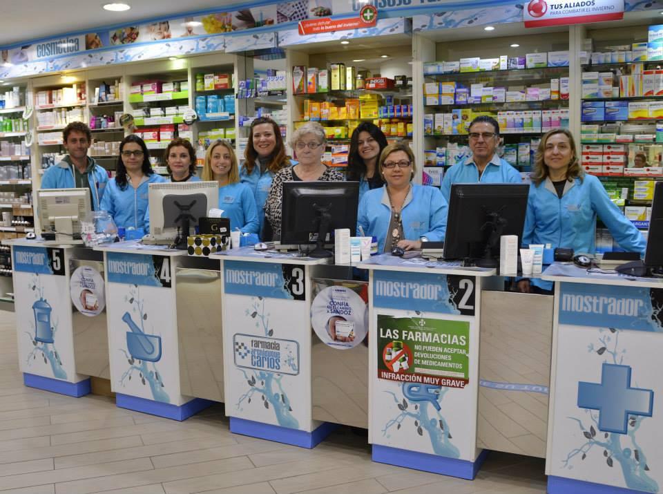 Equipo personal de la Farmacia Archiduque Carlos