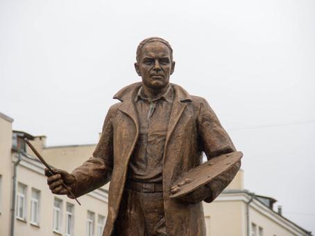 Между корпусами А и Б Тверского государственного университета открыли памятник Ефрему Зверькову