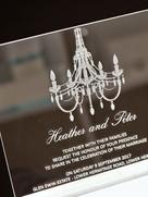 Wedding Invitations Clear Acrylic Chandi