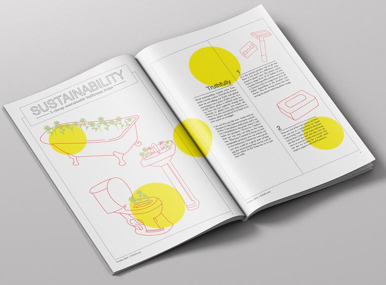 Sustainability Magazine Spread