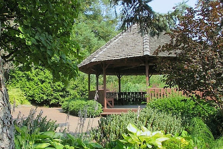 The Mabel Davis Garden surrounds the Gazebo - Arboretum at South Seattle College