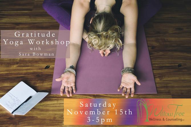Upcoming Workshop: Gratitude Yoga
