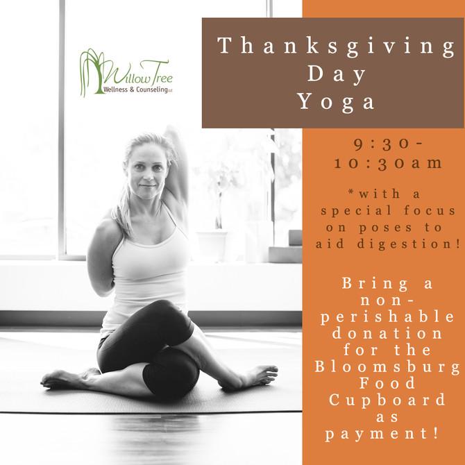 Thanksgiving Day Yoga Class