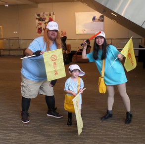 Me dressed as the Platelet from Cells at Work