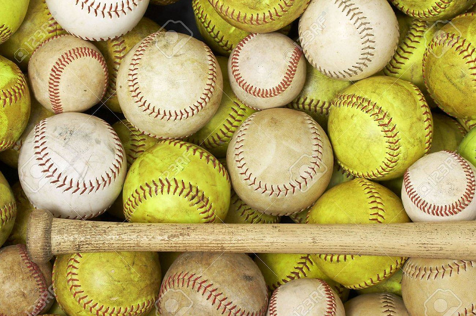 4580207-a-picture-of-baseballs-and-softb