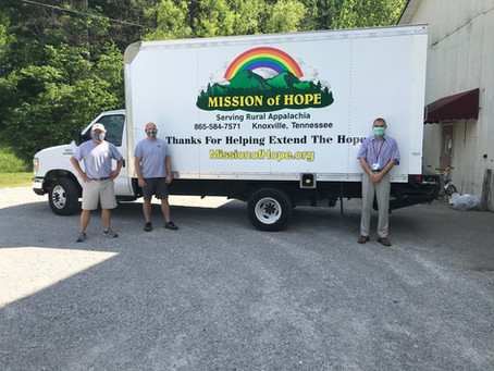 Mission of Hope Donation June 2020