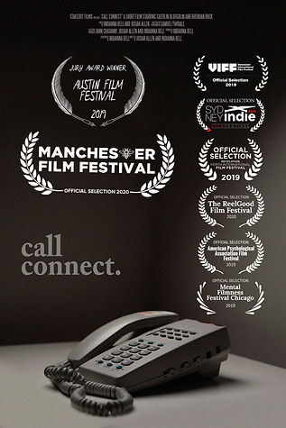 call connect poster with Laurels(manches