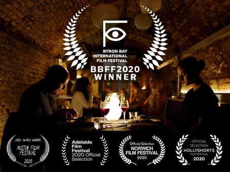 Winner of 'BEST SHORT FILM' at the Byron Bay International Film Festival- 'The Recordist'