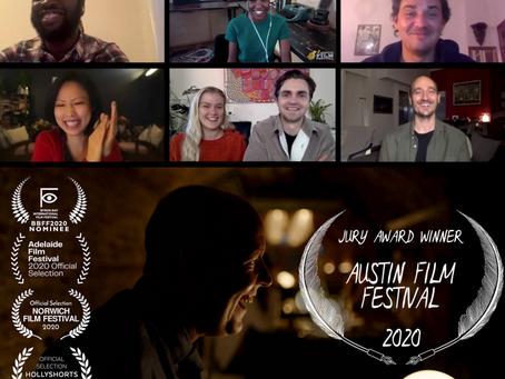 'JURY AWARD' Win at Oscar Qualifying 'Austin Film Festival 2020' - 'The Recordist'