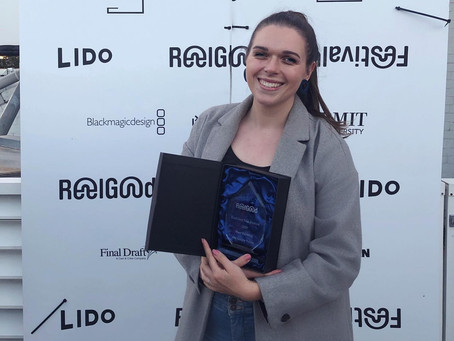 Caithlin O'Loghlen wins 'Most Exciting On Screen Talent' at ReelGood Film Festival