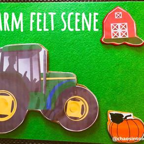 Farm felt scene