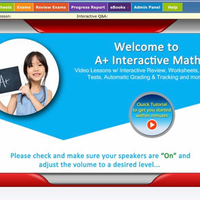 Tear-free learning with the Family Math Package from A+ Interactive Math