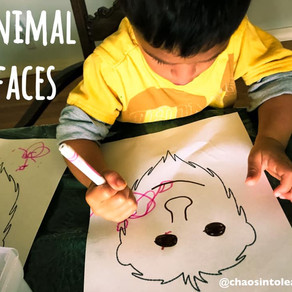 Animal faces to reinforce body parts