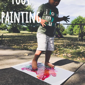 Foot painting!