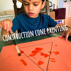 Construction cone painting!