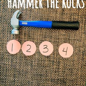 Smash the rocks toddler math!