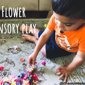 Low-cost flower sensory activity