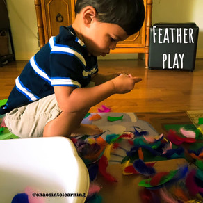 Feather sensory fun!