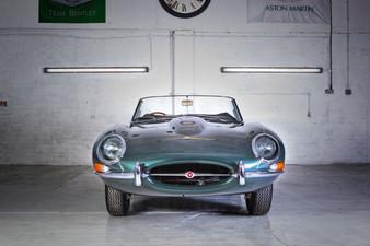 Jaguar E type front view