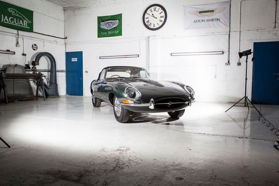 Jaguar E type photoshoot