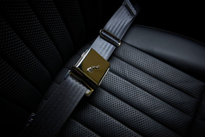 Jaguar E type inertia seatbelts