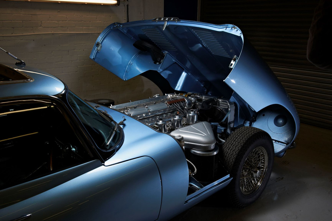 Jaguar E type engine bay restoration