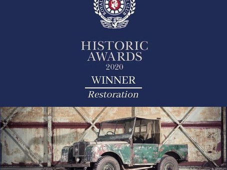 JUE 477 wins Royal Automobile Historic Award