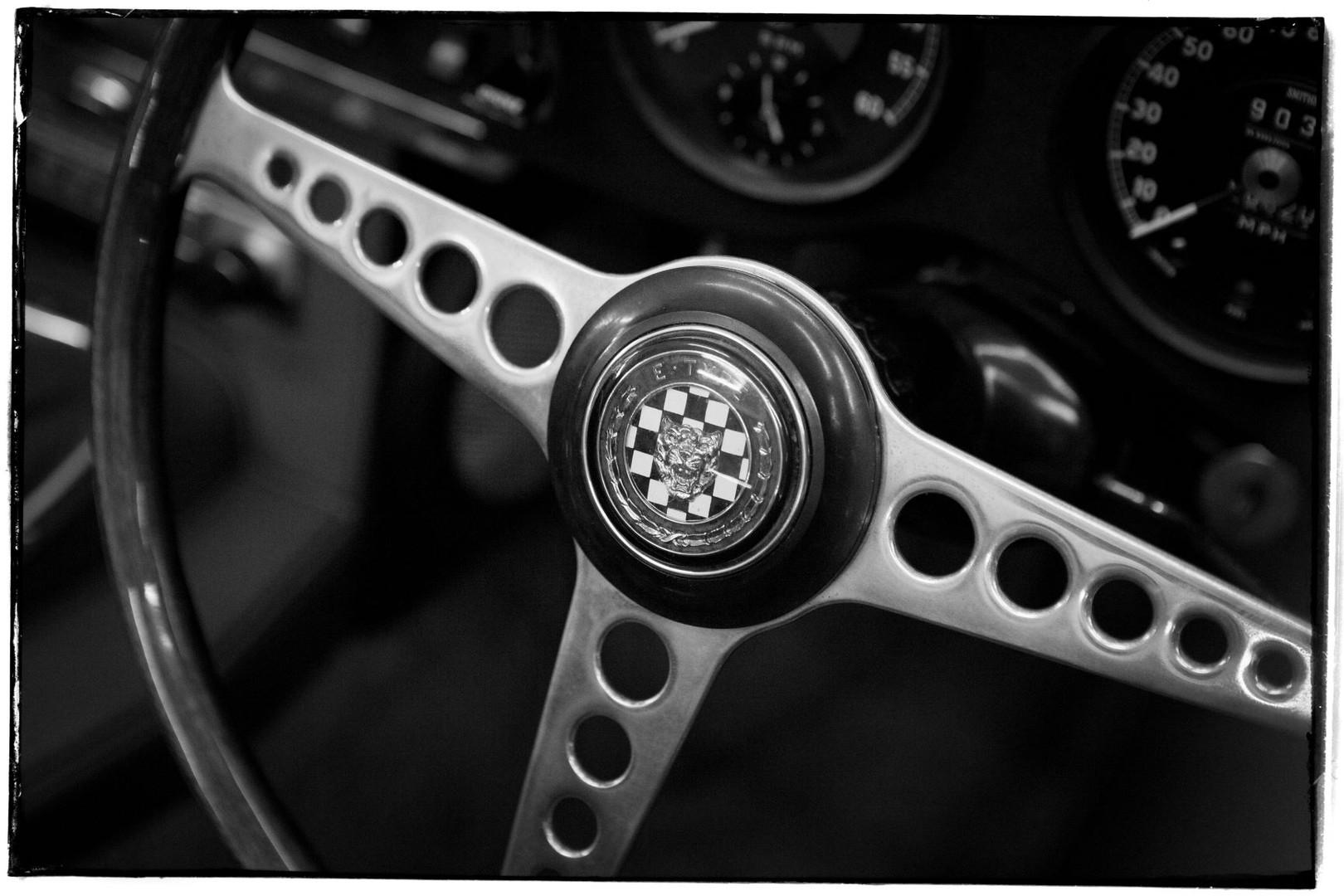 Jaguar E type steering wheel