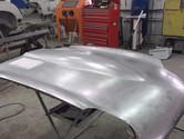 Jaguar E type bonnet metalwork