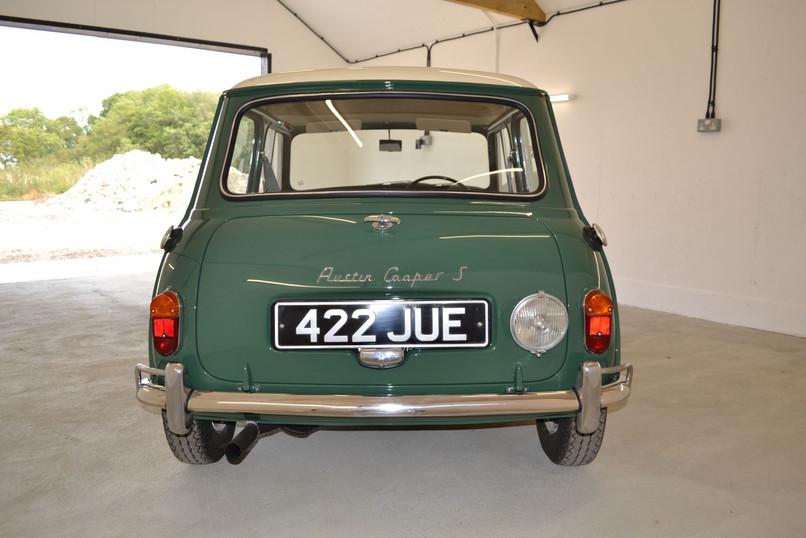 Mini Cooper restoration rear view