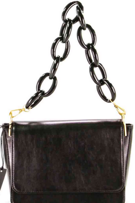 GIANNI CHIARINI FLAP MESSENGER WITH CHAIN HANDLE