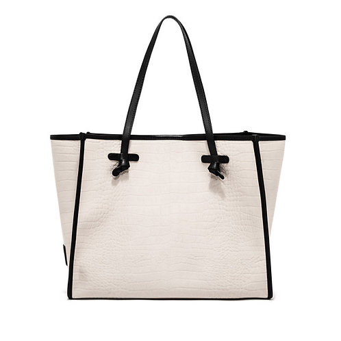 GIANNI CHIARINI- CANVAS CROCO TOTE