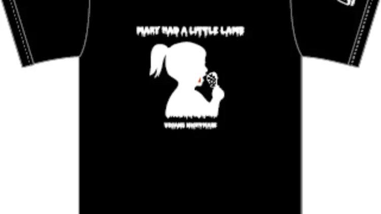 Lamb chop girl T-shirts BLACK