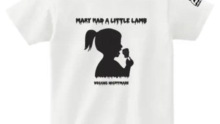 Lamb chop girl T-shirts WHITE