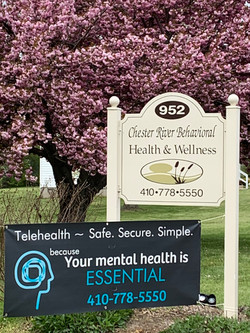 Office sign with Cherry Blossom